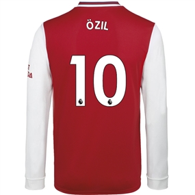 Adidas Arsenal 'OZIL 10' Home Long Sleeve Jersey '19-'20 (Scarlet)