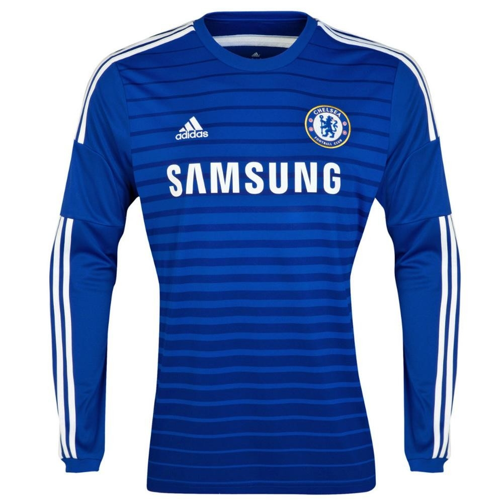 new concept 32732 53f6c Adidas Chelsea Home '14-'15 Long Sleeve Soccer Jersey (Blue)