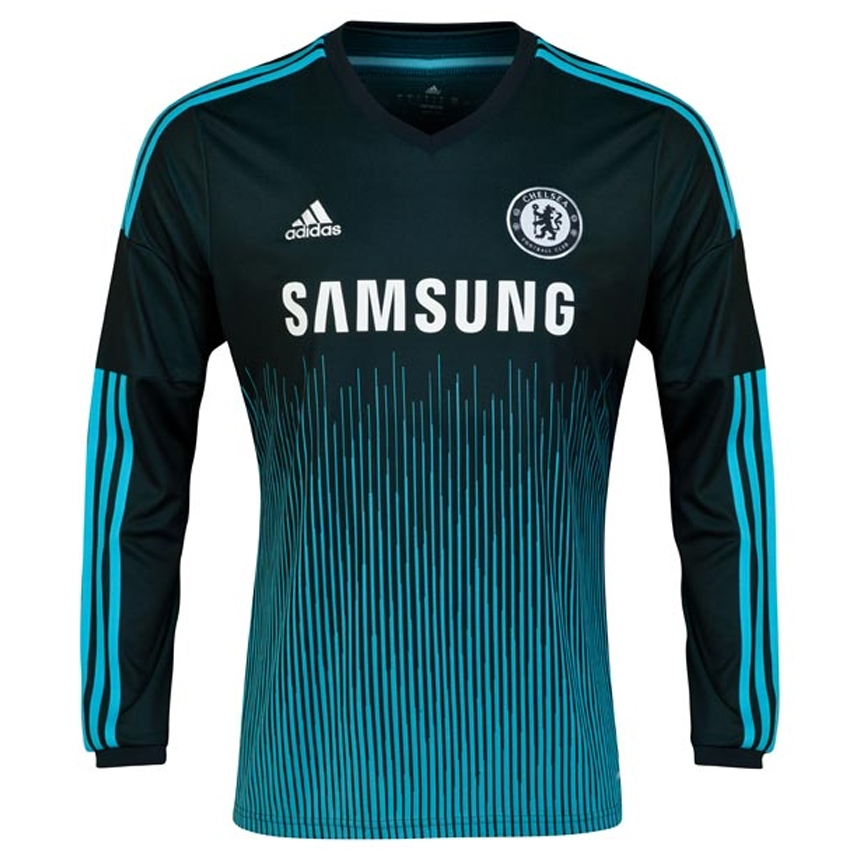SALE  69.95 - Adidas Chelsea Third  14- 15 Long Sleeve Replica Soccer Jersey  (Dark Marine Intense Blue White)  8bed27a01