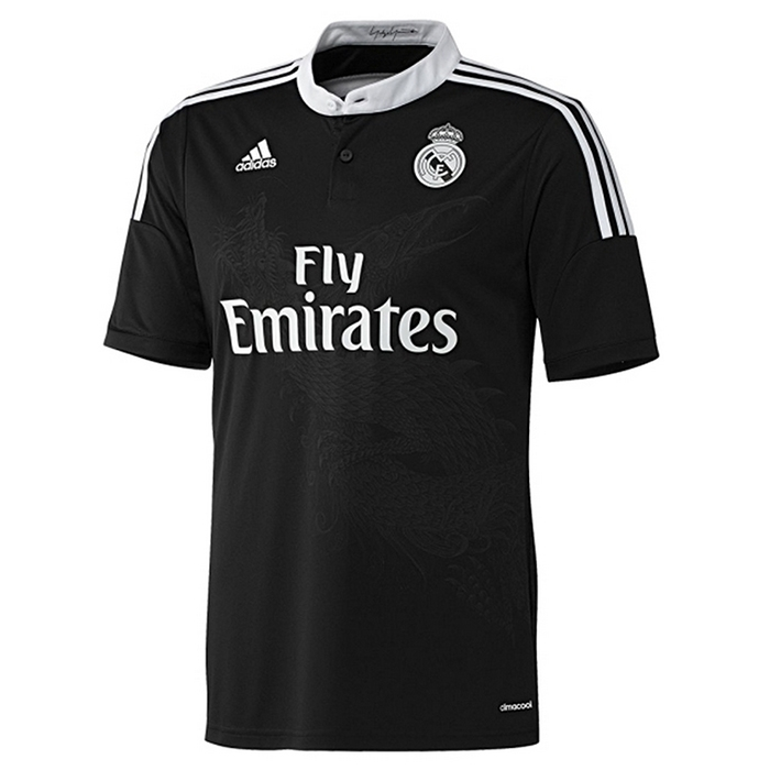 buy popular eee89 44e6d Adidas Real Madrid Third'14-'15 Replica Soccer Jersey (Black/White)