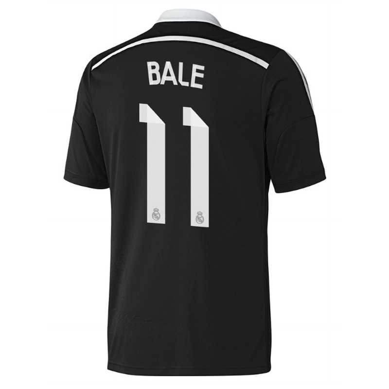 more photos c7137 a80ab Adidas Real Madrid 'BALE 11' Third '14-'15 Soccer Jersey (Black/White)