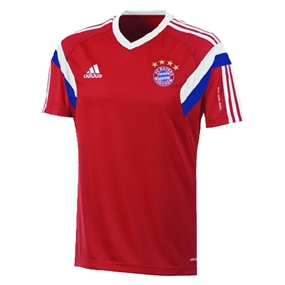 Adidas Bayern Munich '14-'15 Training Soccer Jersey (FCB True Red/White)