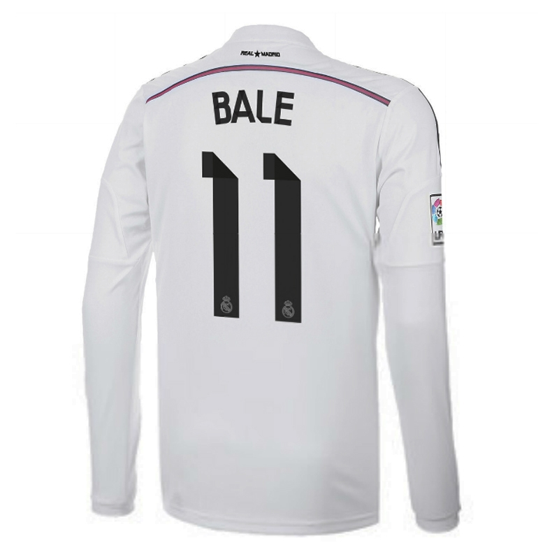 half off 54802 440cb Adidas Real Madrid 'BALE 11' Home '14-'15 Long Sleeve Soccer Jersey