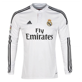 watch cb62a ae23f Adidas Real Madrid 'KROOS 8' Home '14-'15 Long Sleeve Soccer Jersey