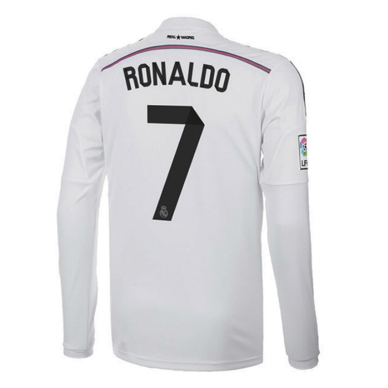 brand new 60a73 1894a Adidas Real Madrid 'RONALDO 7' Home '14-'15 Long Sleeve Soccer Jersey