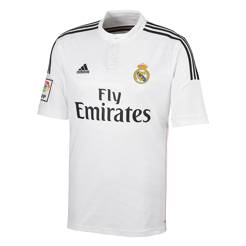 new style 0a16a b5355 Adidas Real Madrid Home '14-'15 Replica Soccer Jersey (White)