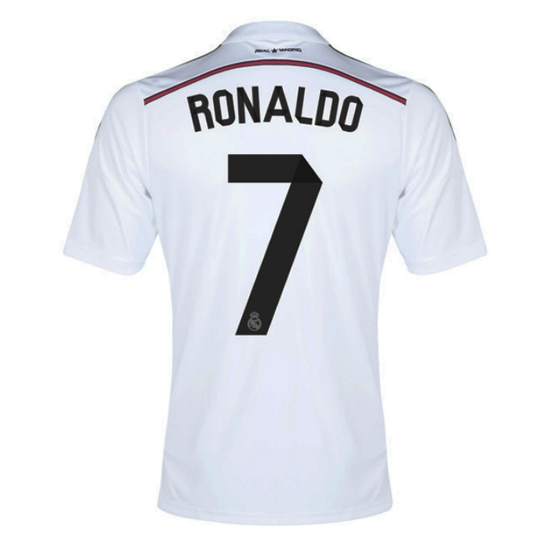 5937941fc Real Madrid  RONALDO 7  Home  14- 15 Replica Soccer Jersey (White ...