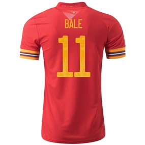 Adidas Wales 'BALE 11' Home Jersey 2020 (Red/Collegiate Gold)