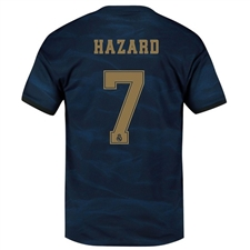 Adidas Real Madrid 'HAZARD 7' Away Jersey '19-'20 (Night Indigo)