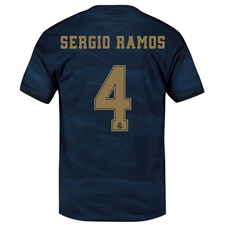Adidas Real Madrid 'SERGIO RAMOS 4' Away Jersey '19-'20 (Night Indigo)