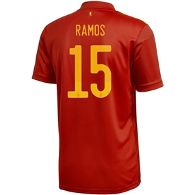 Adidas Spain 'RAMOS 15' Home Jersey 2020 (Victory Red)