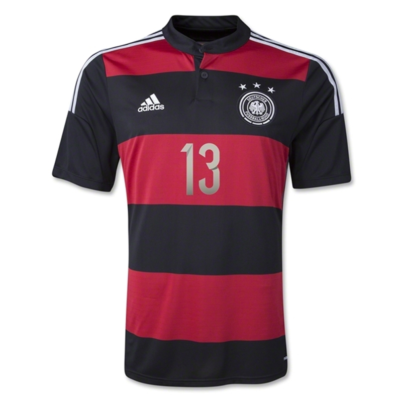 88844a957b5 Adidas Germany 'MULLER 13' Away 2014 Replica Soccer Jersey (Black/Victory  Red/Metallic ...