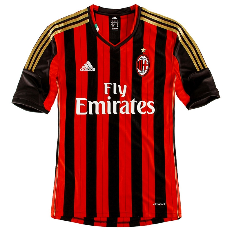 74b2c4a46 SALE  44.95 - Adidas AC Milan Home 2013-2014 Replica Soccer Jersey ...