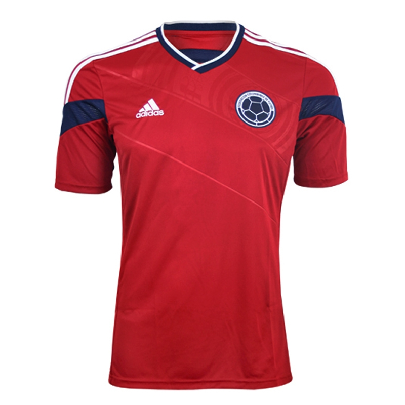 9e40ebfde Adidas Colombia Away 2014 Replica Soccer Jersey (Power Red/White) | Colombia  Soccer Jerseys| G87250| SoccerCorner.com