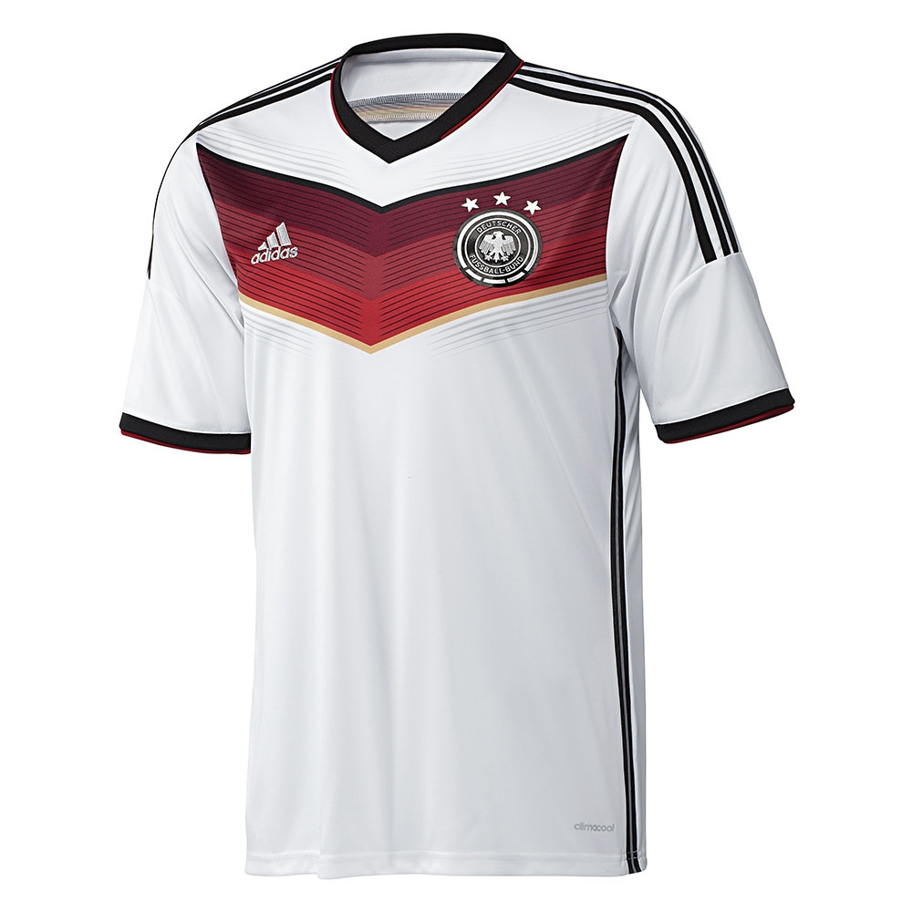 """54d7328973f ... Adidas Germany MULLER 13 Home 2014 Replica Soccer Jersey White """" ..."""