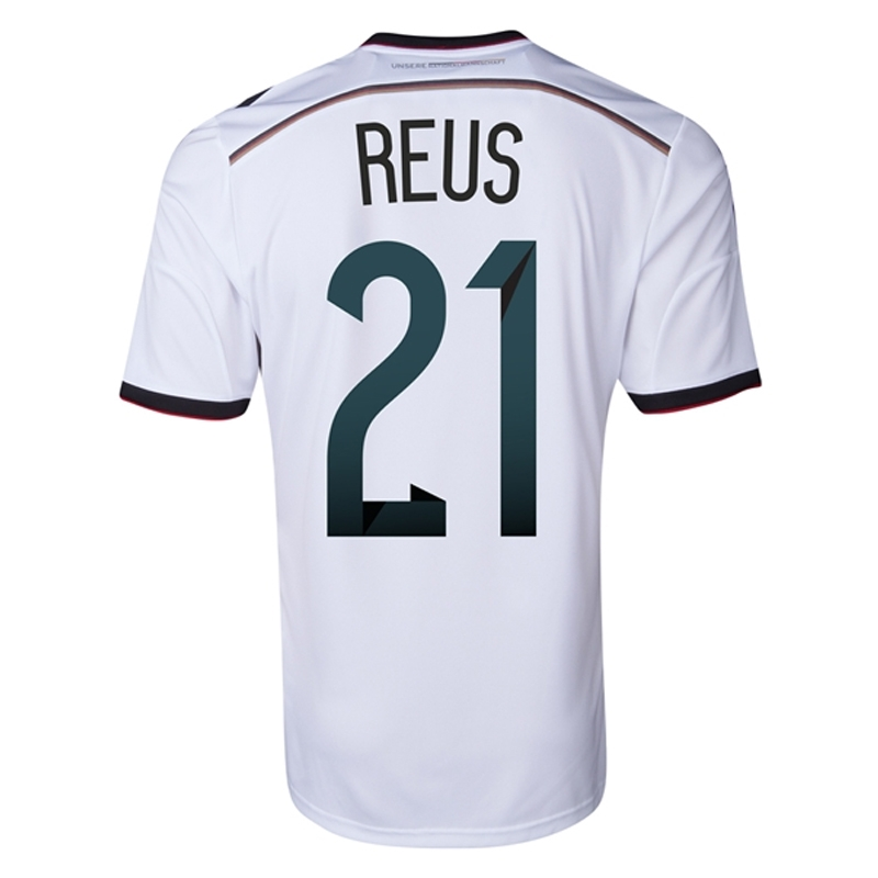the latest dd0bd 28180 Adidas Germany 'REUS 21' Home 2014 Soccer Jersey (White)