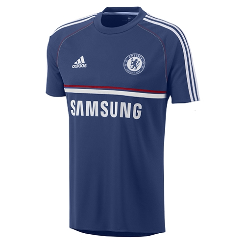 new arrival a99a6 c8c7b Adidas Chelsea 2013-2014 Soccer Training Jersey (Dark Blue/White)
