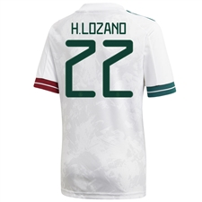 Adidas Mexico 'H. LOZANO 22' Away Jersey 2020 (White)