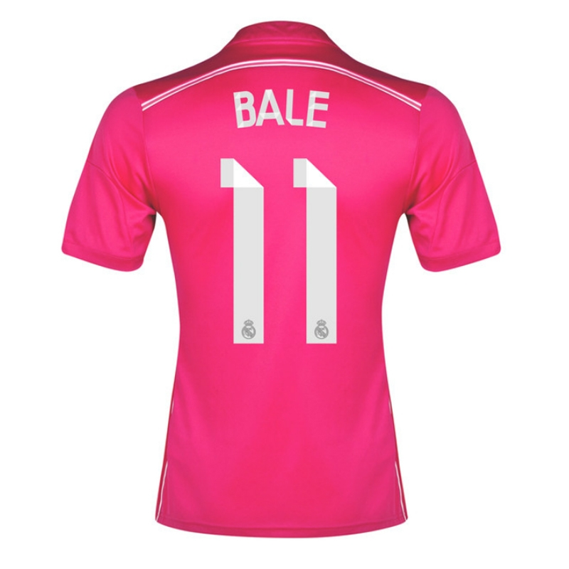 big sale 0328c eefca Adidas Real Madrid 'BALE 11' Away '14-'15 Soccer Jersey (Pink/White)