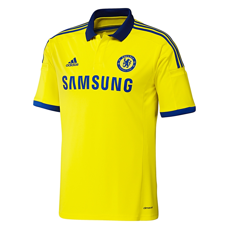 huge selection of 5ea30 4a1a0 Adidas Chelsea 'DROGBA 11' Away '14-'15 Soccer Jersey (Yellow/Blue)