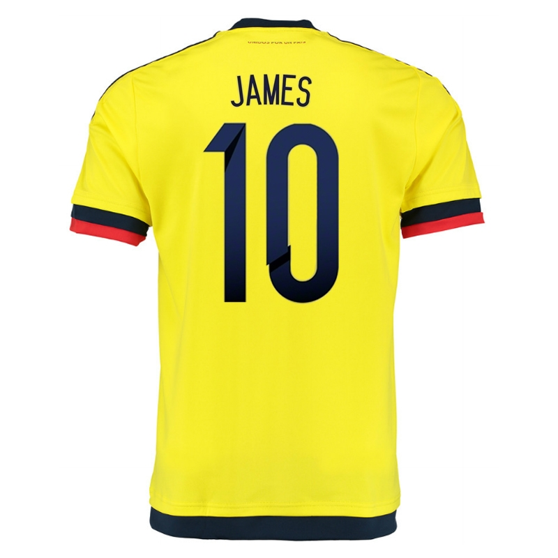 outlet store 832ea 6dc89 Adidas Colombia 'JAMES 10' Home 2015 Soccer Jersey (Yellow/Collegiate Navy)