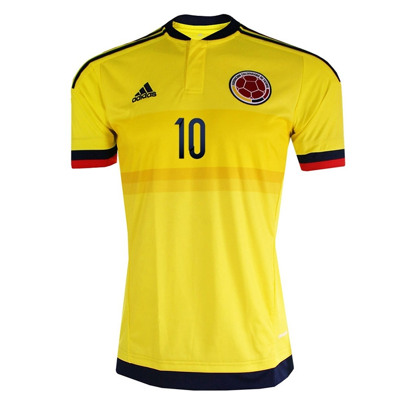 efc39d28e80 $103.49 - Adidas Colombia 'JAMES 10' Home 2015 Soccer Jersey (Yellow ...