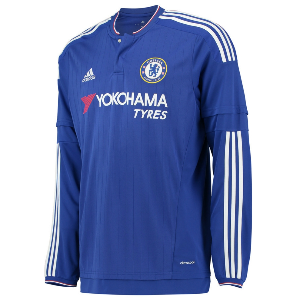 detailed look 2bb09 5aa21 Adidas Chelsea 'HAZARD 10' Home '15-'16 Long Sleeve Replica Soccer Jersey  (Chelsea Blue/White/Power Red)