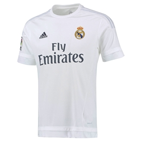 Adidas Real Madrid Home '15-'16 Replica Soccer Jersey (White/Clear Grey)