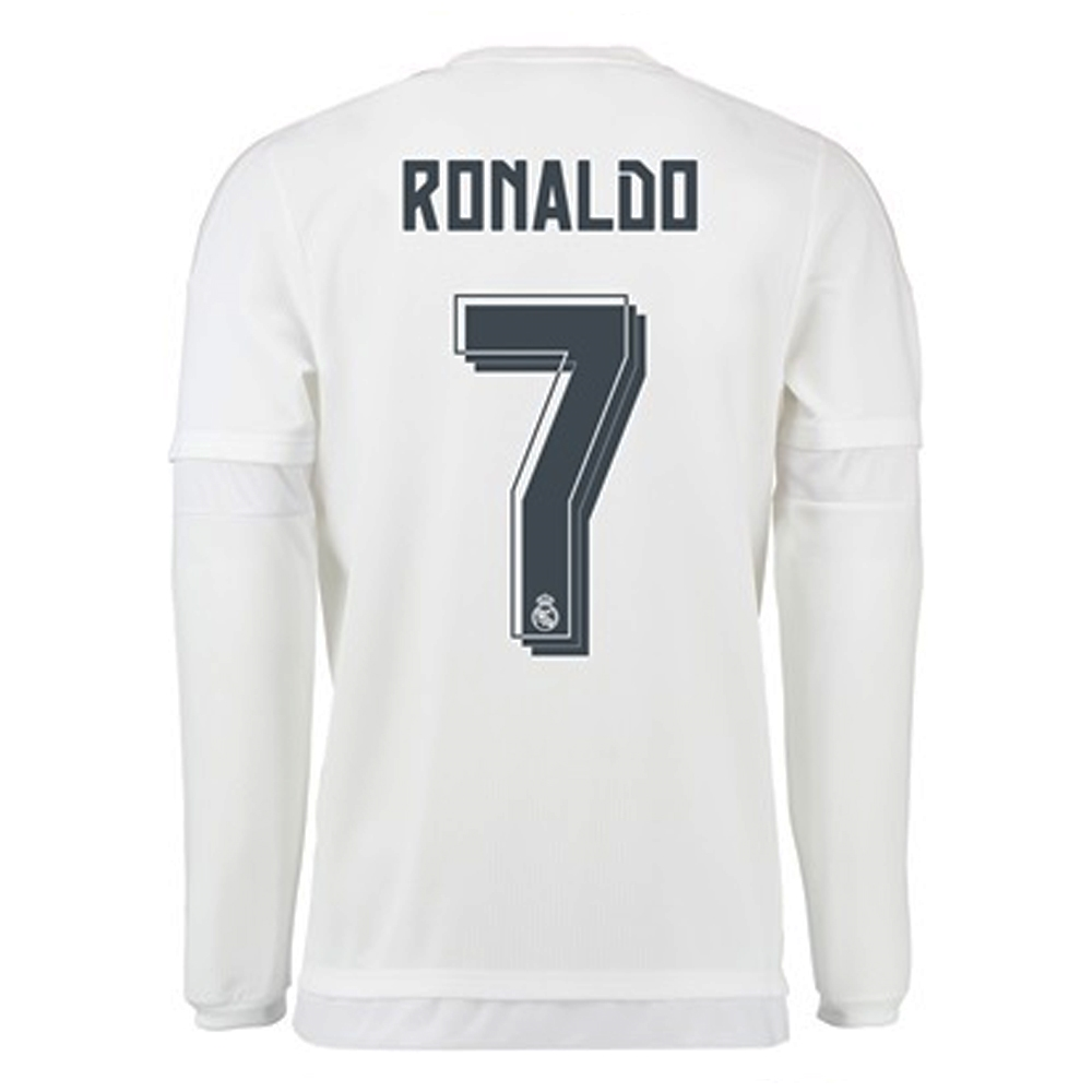 5fdb15e1d Real Madrid  RONALDO 7  Home  15- 16 Long Sleeve Replica Soccer ...