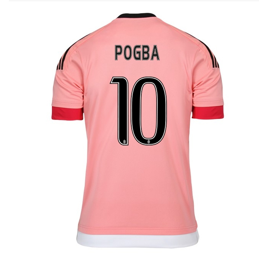 best website a8ca6 cd6e8 Adidas Juventus 'POGBA 10' '15-'16 Away Soccer Jersey (Pink/Black/White)