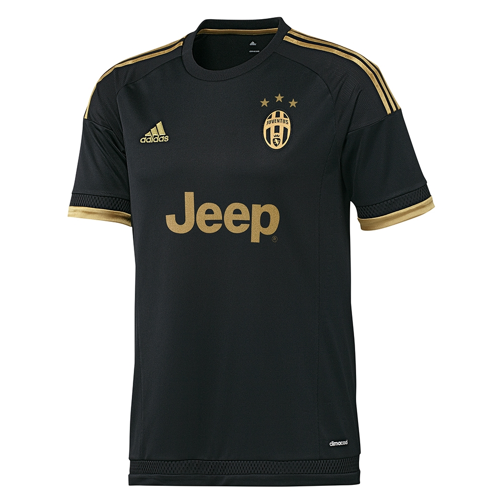 new product f5f50 5ee04 Adidas Juventus '15-'16 'POGBA 10' Third Soccer Jersey (Black/Dark Football  Gold)