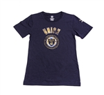 Adidas MLS Philadelphia Union Girls Cap Sleeve Tee Shirt (Navy)