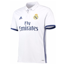Adidas Real Madrid Home '16-'17 Soccer Jersey (White/Blue)