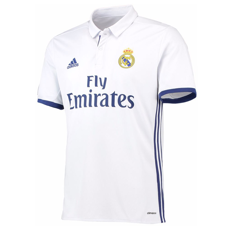 6c1552ed8 Adidas Real Madrid Home  16- 17 Soccer Jersey (White Blue)