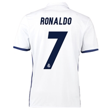 Adidas Real Madrid 'RONALDO 7' Home '16-'17 Soccer Jersey (White/Blue)