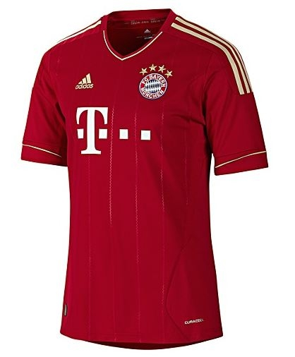 buy popular d269a 8d137 Adidas Bayern Munich Home '11-'12 Replica Soccer Jersey (University  Red/Metallic Gold)