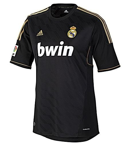 new style 50173 f2503 Adidas Real Madrid Away '11-'12 Replica Soccer Jersey (Black/Gold)