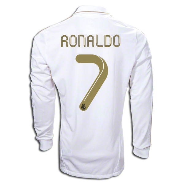 d84de96e3 Real Madrid Long Sleeve Ronaldo 2011-2012 Home Jersey