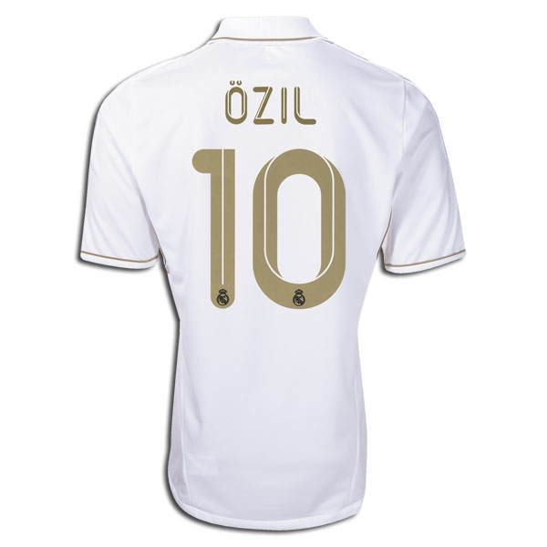 buy popular 5f946 0837c Adidas Real Madrid OZIL Home '11-'12 Replica Soccer Jersey (White/Gold)