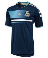 Adidas Argentina Away 2011 Replica Soccer Jersey (Collegiate Navy/White)