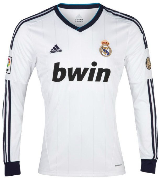 online store 29fee dfaf8 Adidas Real Madrid 'RONALDO 7' Home Long Sleeve 2012-2013 Replica Soccer  Jersey (White/Noble Ink)