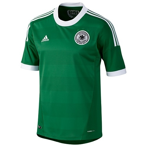 f5d057baa72 Adidas Germany Away 2012-2013 Replica Soccer Jersey (Core Green White)
