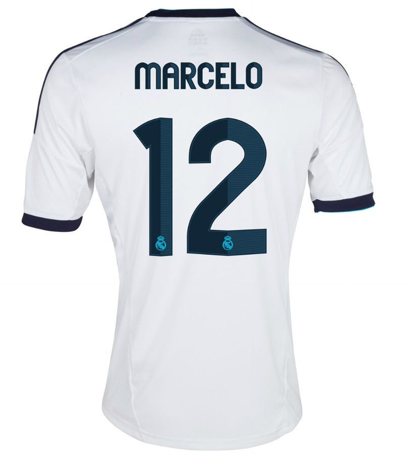 94ab606bc Adidas Real Madrid  MARCELO 12  Home  12- 13 Replica Soccer Jersey ...