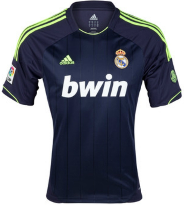 newest f8614 6f2a6 Adidas Real Madrid 'RONALDO 7' Away '12-'13 Replica Soccer Jersey  (Navy/Electricity)