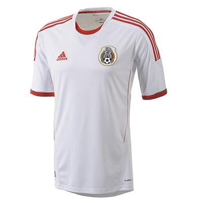 new style 26dff 949bc Adidas Mexico Third '13-'14 Replica Soccer Jersey (White/Red/Gold)