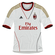 Adidas AC Milan Away 2013-2014 Replica Soccer Jersey (White/Red)