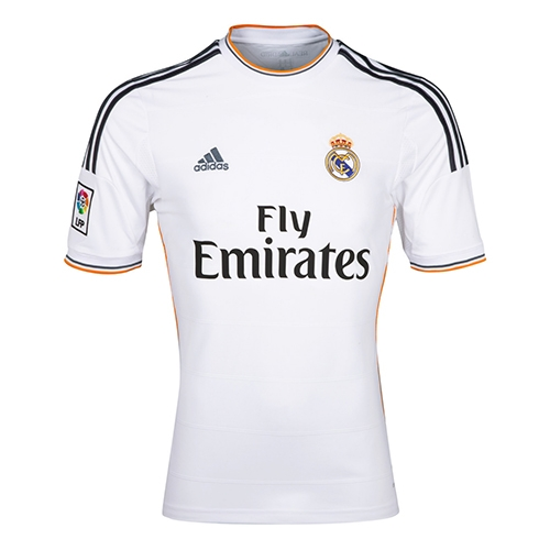 meet b24ca f2bbb Adidas Real Madrid Home '13-'14 Replica Soccer Jersey (White/Lead/Orange)