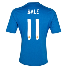 Adidas Real Madrid 'BALE 11' Away '13-'14 Replica Soccer Jersey (Air Force Blue/White/Light Orange)