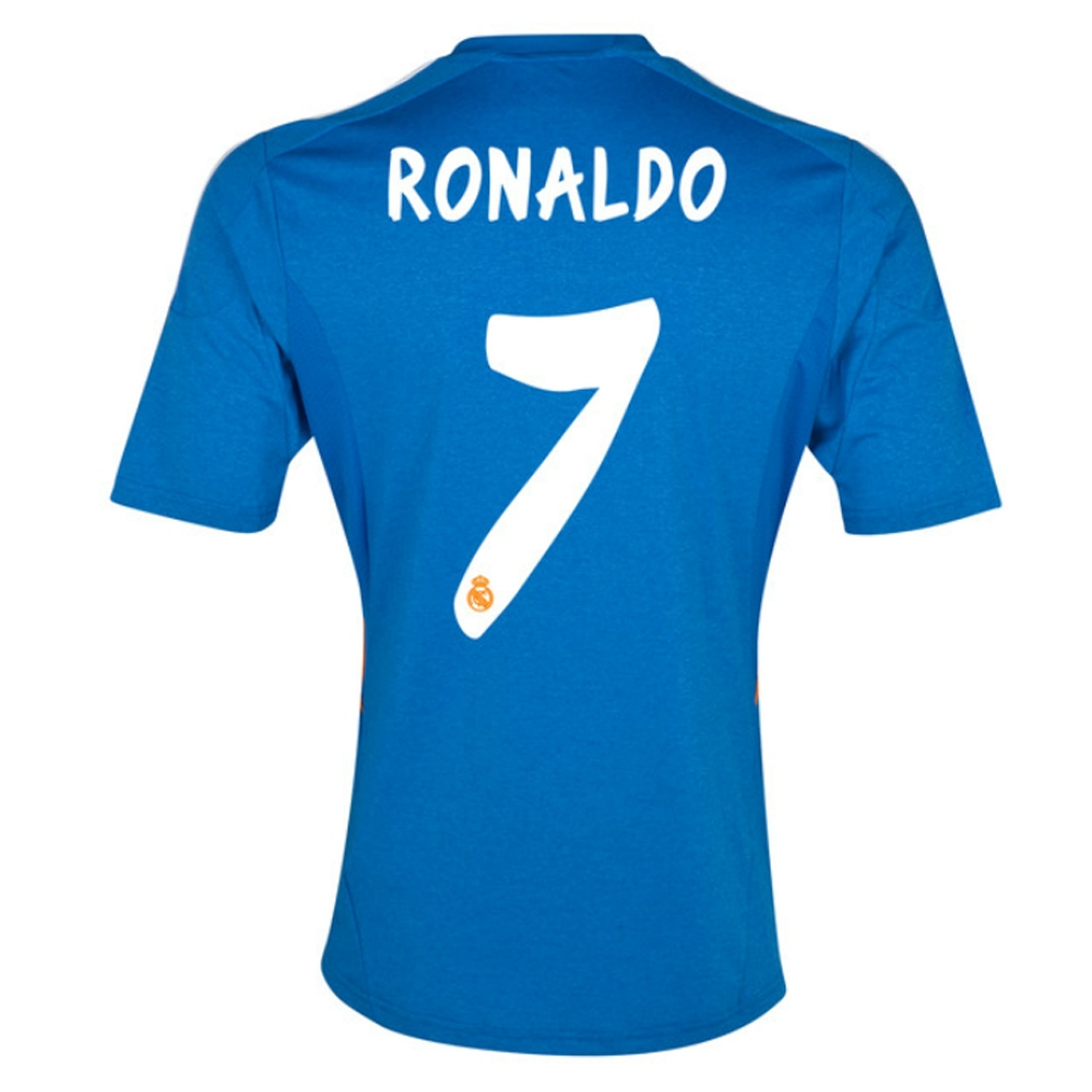 purchase cheap ce476 46a39 Adidas Real Madrid 'RONALDO 7' Away '13-'14 Soccer Jersey (Blue)
