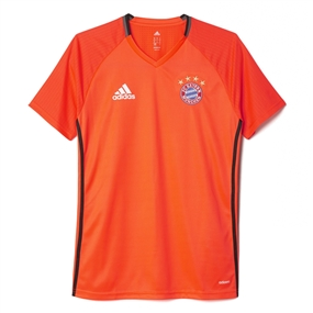 Adidas Bayern Munich '16-'17 Training Soccer Jersey (Solar Red)